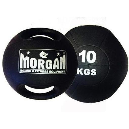 Morgan Double Handled Medicine Ball Set 5Kg + 10Kg Training Equipment D-9-SET - MMA DIRECT