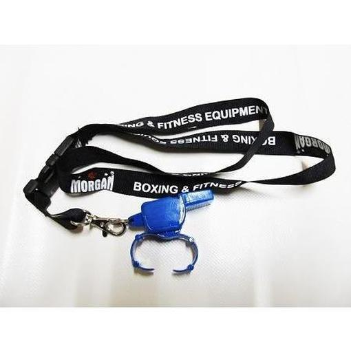 Morgan Pealess Blaster Whistle with Finger Slots + Deluxe Lanyard PW-7 - MMA DIRECT
