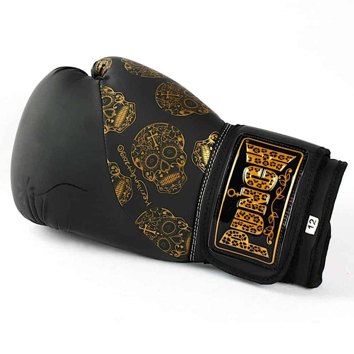 Punch Womens Boxing Gloves Skull Art Black 12oz Limited Edition