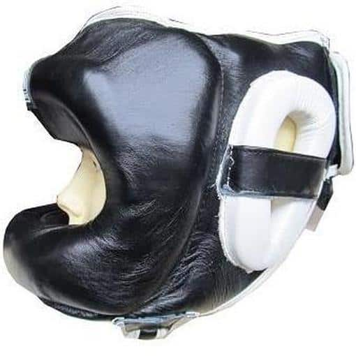 Morgan Nose Protector Leather Sparring Head Guard Chin Cheek Boxing [S/M/L/XL] - MMA DIRECT