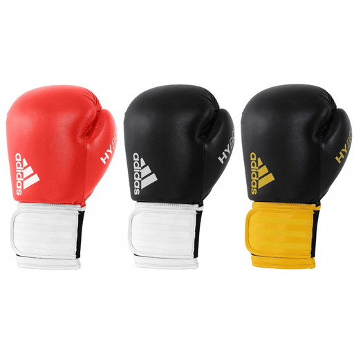 Adidas Hybrid 100 Boxing Gloves 10oz 12oz 16oz Red White Yellow - MMA DIRECT