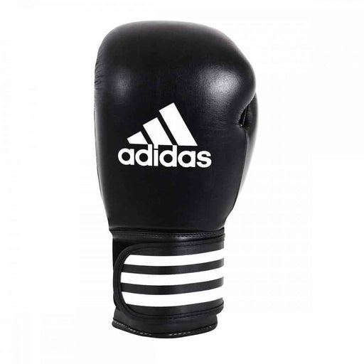 Adidas Performer Leather Boxing Gloves Black 10oz 12oz 16oz - MMA DIRECT