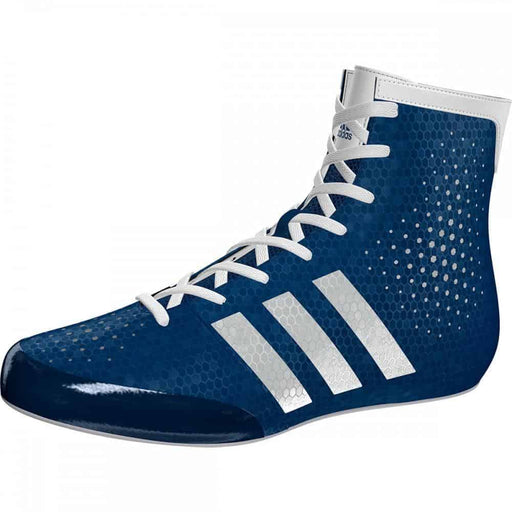 Adidas KO Legend Boxing Shoes Boots Blue & White Lace Up - MMA DIRECT