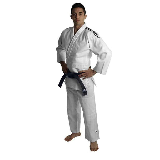 Adidas J500 Judo Training Gi Uniform White Senior Lightweight 150cm-190cm - MMA DIRECT