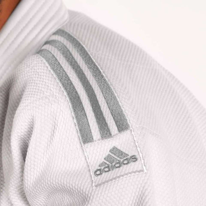 Adidas J990 Millenium Judo Gi Uniform White Double Weave Senior - MMA DIRECT