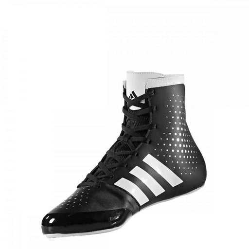 Adidas KO Legend Boxing Shoes Boots Black & White Lace Up - MMA DIRECT