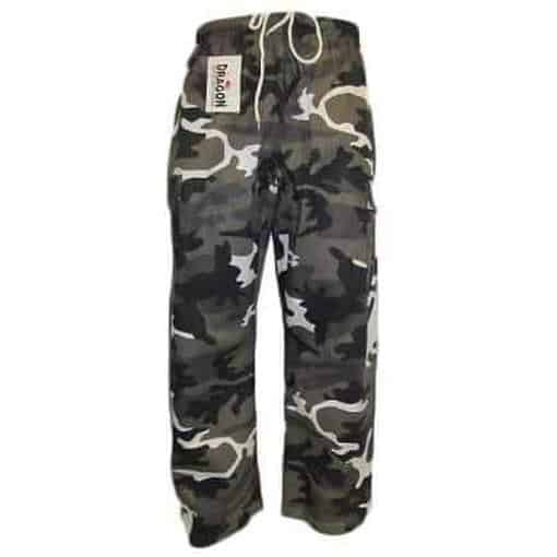 Dragon Grey Camo Martial Arts Training Pants - MMA DIRECT