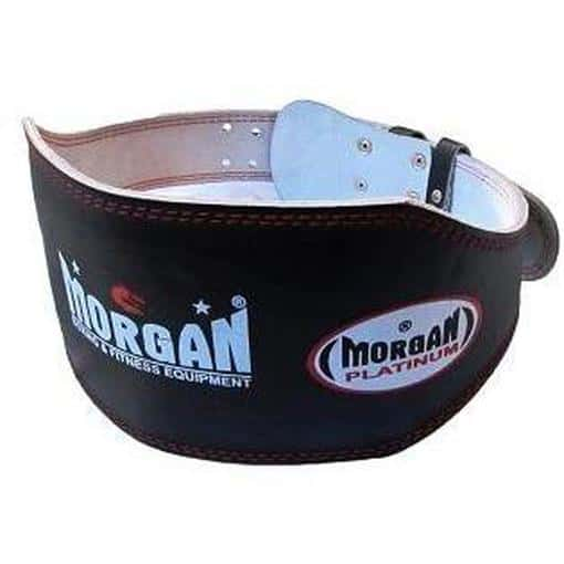 Morgan Platinum 15cm Wide Leather Weight Lifting Belt Commercial Grade LB-1 - MMA DIRECT