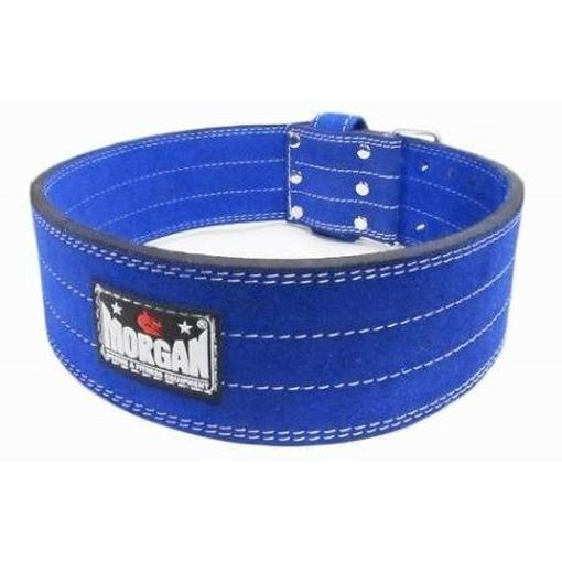 Morgan Quick Release Suede Leather Weight Lifting Belt Commercial Grade LB-7 - MMA DIRECT