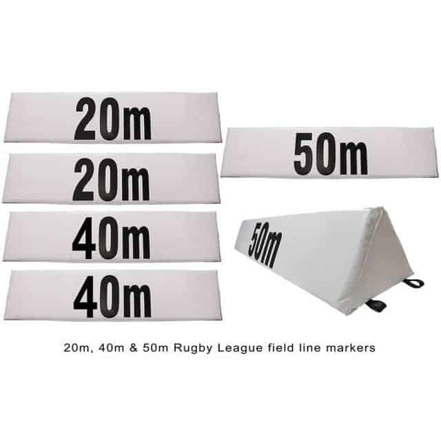 Morgan Triangle Field Distance Marker Set of 6 Ruby C-FB-SET OF 6 - MMA DIRECT