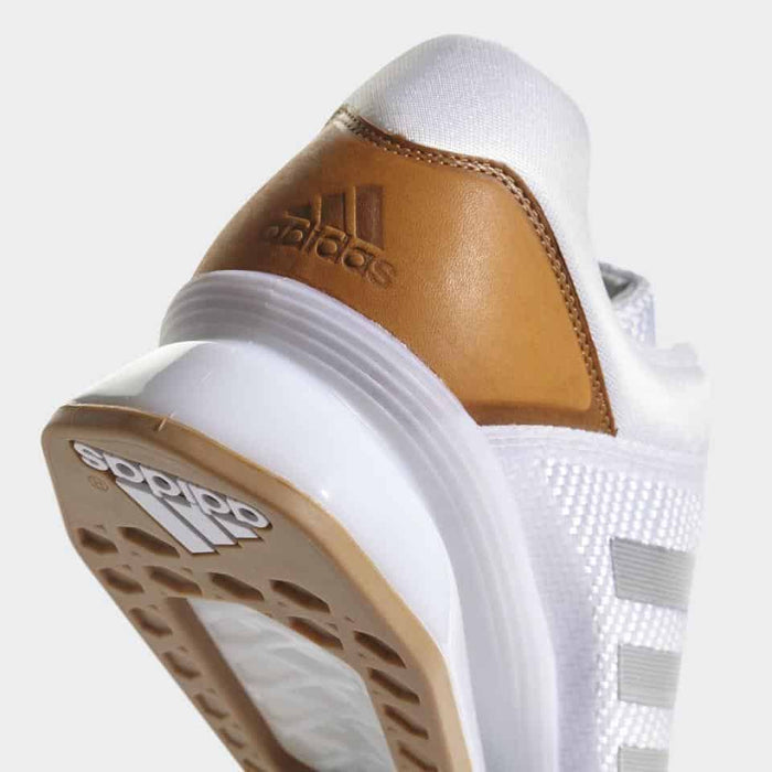 Adidas LEISTUNG.16 2 II Weightlifting Shoes White/Silver Metallic Lace + Adjust - MMA DIRECT