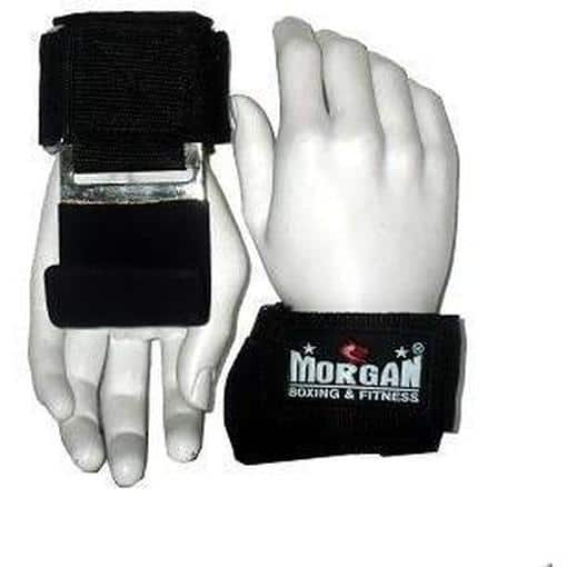 Morgan Weight Lifting Hooks Hand Grips Heavy Duty Straps Pro Grade LG-7B - MMA DIRECT