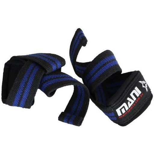 MANI 50MM Heavy Duty Weight Lifting Straps with Padding Blue MWS-102T - MMA DIRECT
