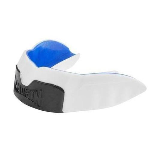 Madison Magnum Pro Mouthguard - White/Blue/Black Rugby League NRL - Sports Grade