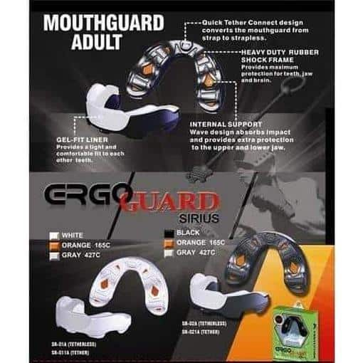 Morgan Sirius 3 Layer Gel Custom Fit Mouth Guard  Ruby Boxing Marital Arts MG-5 - MMA DIRECT
