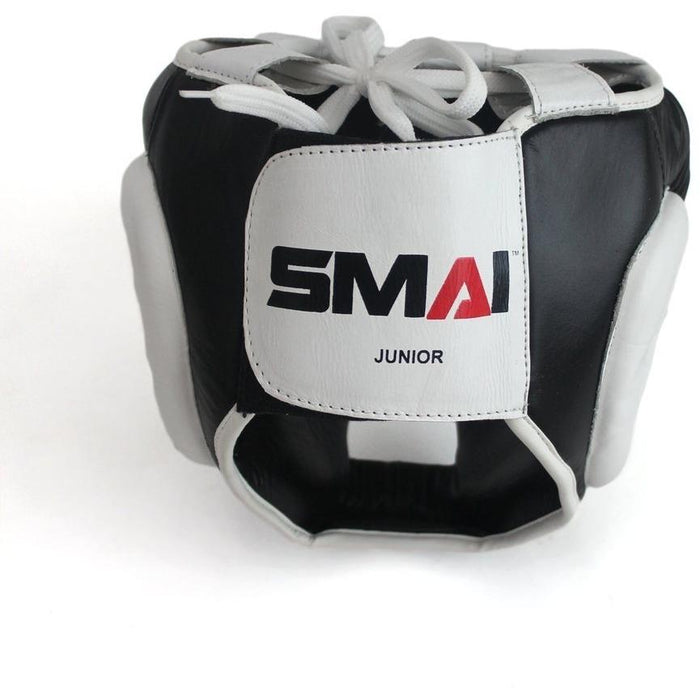 SMAI PRO85 Leather Training Boxing Head Guard Gear - MMA DIRECT