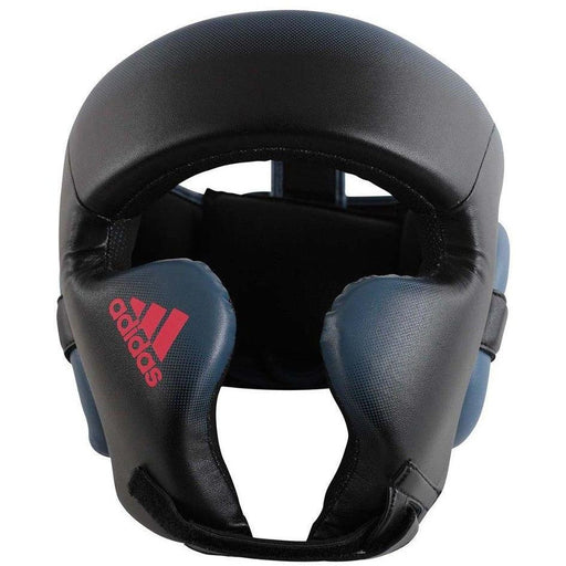 Adidas Womens Boxing Speed Head Gear Guard Black & Shock Red - MMA DIRECT