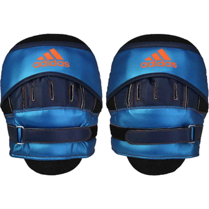 Adidas Speed Training Focus Mitts Punch Pads Metallic Blue - MMA DIRECT