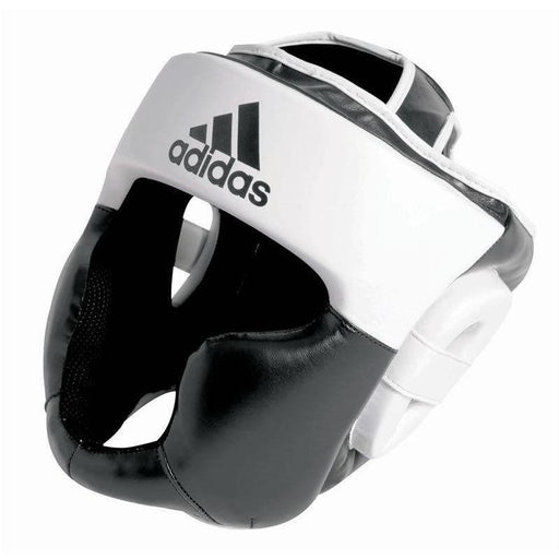 Adidas Response Full Face Head Gear Guard Black & White - MMA DIRECT