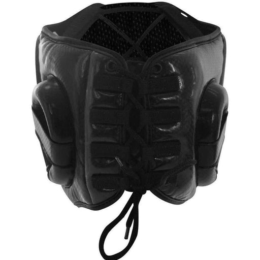 Adidas Hybrid Lace Up Boxing Head / Chin Gear Guard Black & Yellow - MMA DIRECT