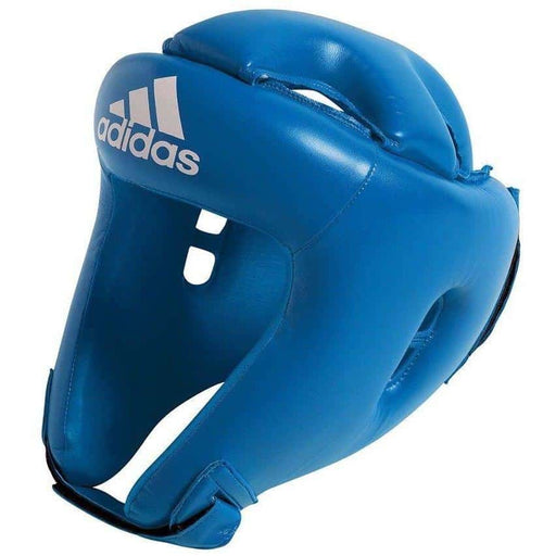 Adidas Junior Kids Competition Head Gear Guard Blue Red - MMA DIRECT