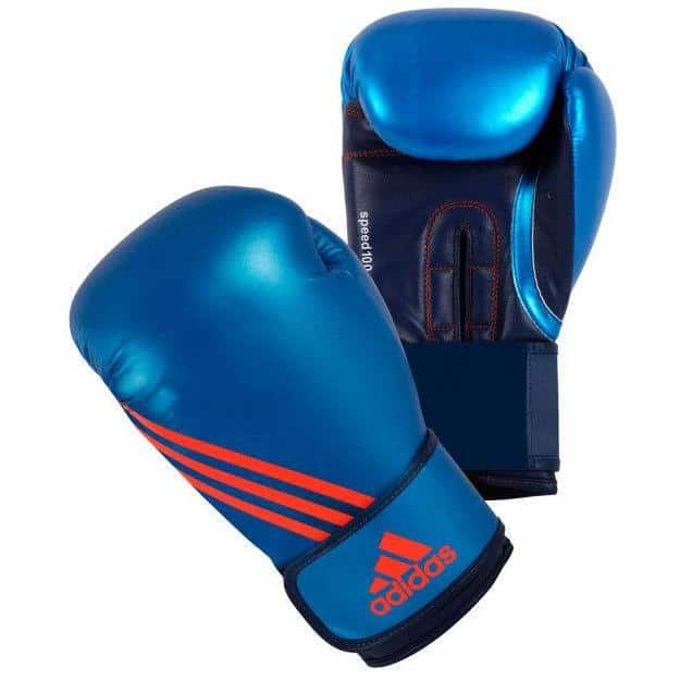 Adidas Speed 100 Boxing Gloves 10oz 12oz Metallic Blue - MMA DIRECT