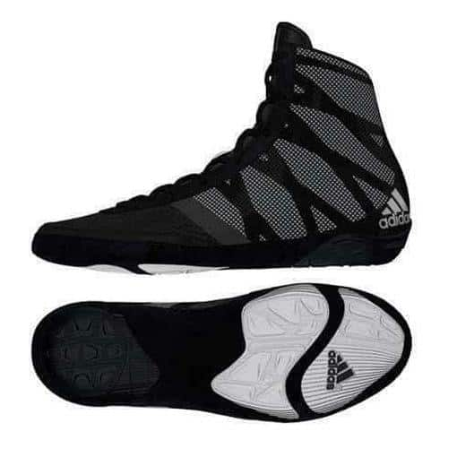 Adidas Pretereo 3 III Wrestling Sport Shoes Boots Black & Silver Lace Up - MMA DIRECT