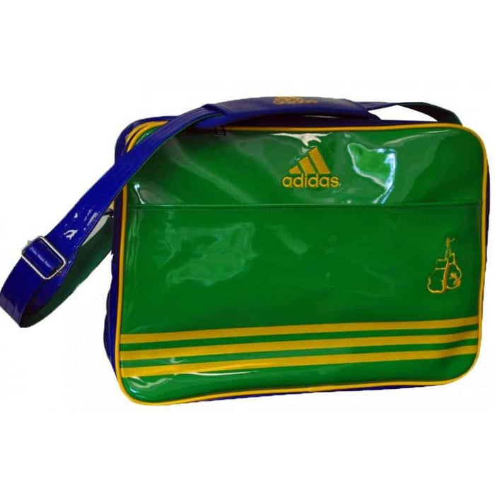 Adidas Boxing Shoulder Bag Shiny Blue/Yellow/Green Gym Equipment Gear Bag - MMA DIRECT