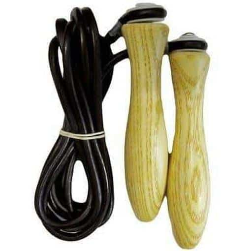 Morgan Elite Leather Skipping Leather Rope Wooden Handles 9ft - MMA DIRECT