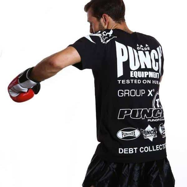 PUNCH Official Sponsorship T-Shirt Black - MMA DIRECT