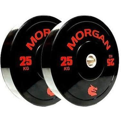MORGAN 25KG Olympic Bumper Weight Plates Gym Set (PAIR) 2x 25KG - MMA DIRECT