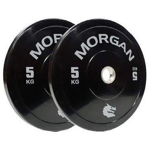 100KG Morgan Olympic Bumper Weight Plates Bulk Pack Gym Set - MMA DIRECT