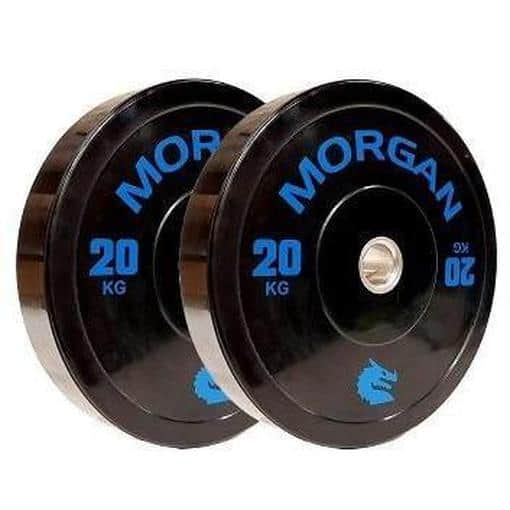 MORGAN 20KG Olympic Bumper Weight Plates Gym Set (PAIR) 2x 20KG - MMA DIRECT
