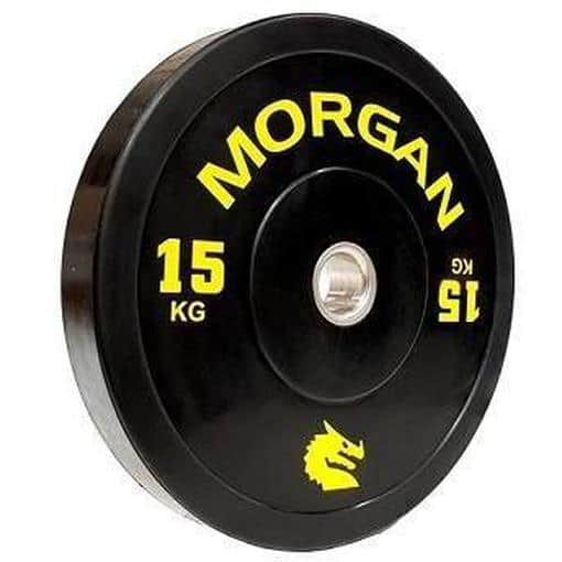 MORGAN 15KG Olympic Bumper Weight Plates Gym Set (PAIR) 2x 15KG - MMA DIRECT