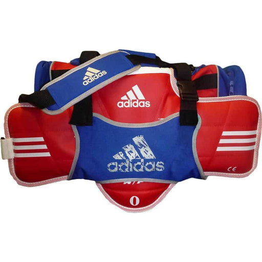 Adidas Taekwondo Gear Gym Sports Bag with Body Protector Holder Blue Red - MMA DIRECT
