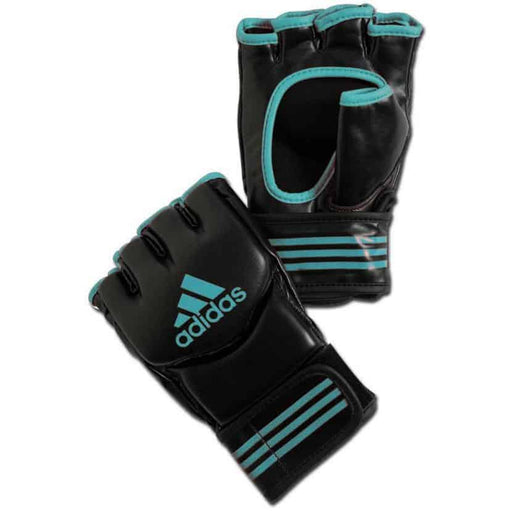 Adidas Training Grappling Gloves Mitts MMA Gloves Black & Blue [S/M/L/XL] - MMA DIRECT
