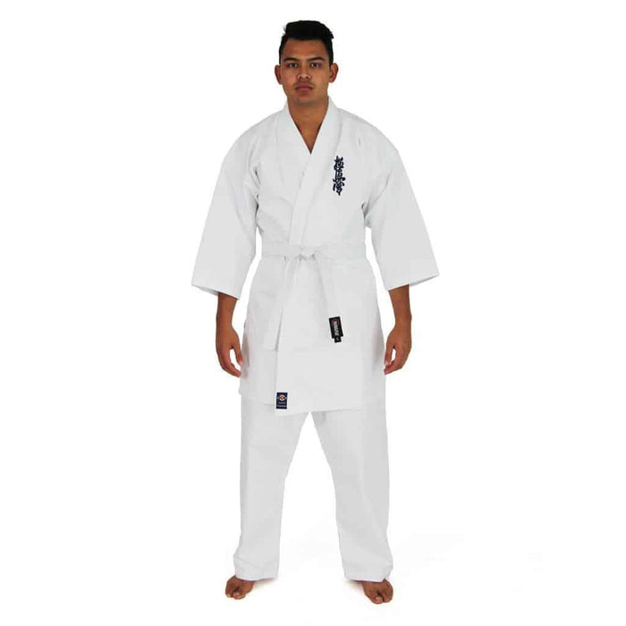 SMAI Kyokushin Martial Arts Uniform 8oz Student Gi Double Stitched + White Belt - MMA DIRECT
