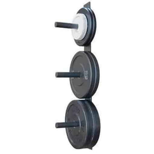 MORGAN Wall Mounted Bumper Weight Plates Storage Rack - MMA DIRECT