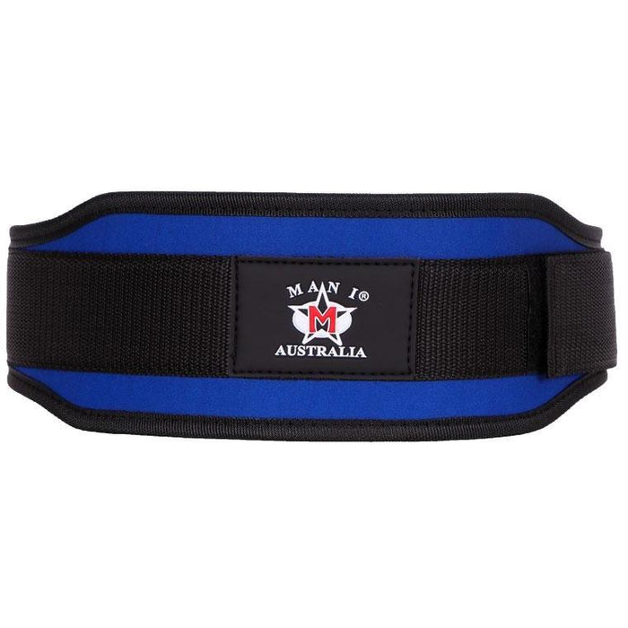 "MANI BLUE 4"" Weight Lifting Gym Exercise Support Belt [S/M/L/XL] MWLB-401 - MMA DIRECT"