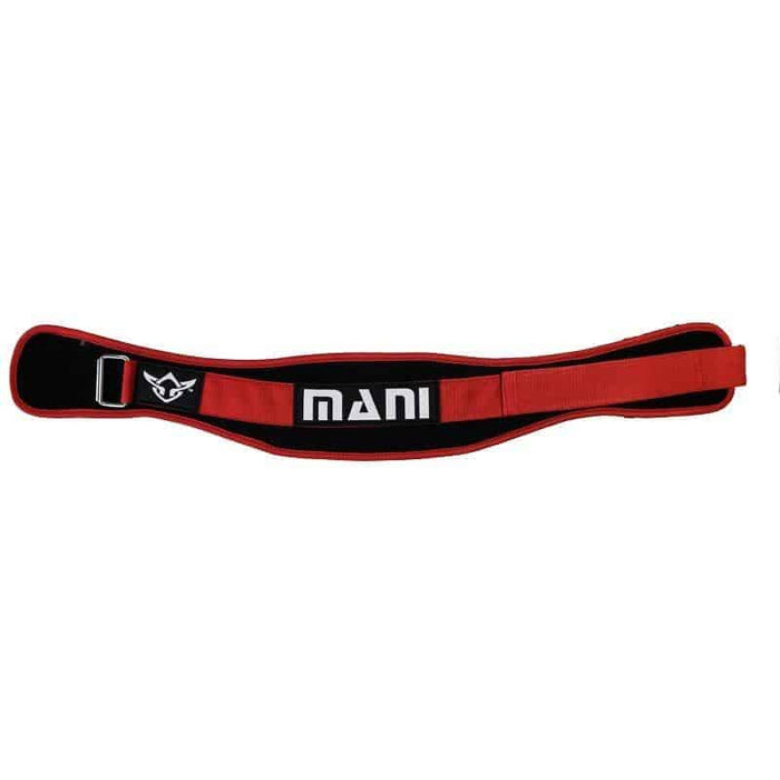 "RED MANI 5"" Weight Lifting Gym Exercise Belt Rack Support [S/M/L/XL] - MMA DIRECT"