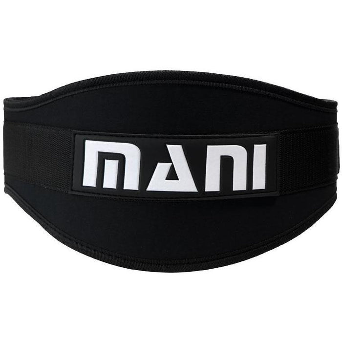 "MANI BLACK 6"" Weight Lifting Back Support Gym Exercise Belt MWLB-501 - MMA DIRECT"
