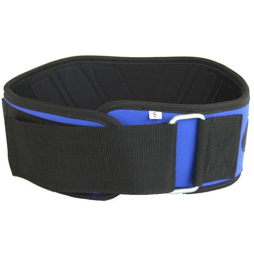 "MANI BLUE 6"" V Support Weight Lifting Exercise Gym Belt [S/M/LXL] - MMA DIRECT"