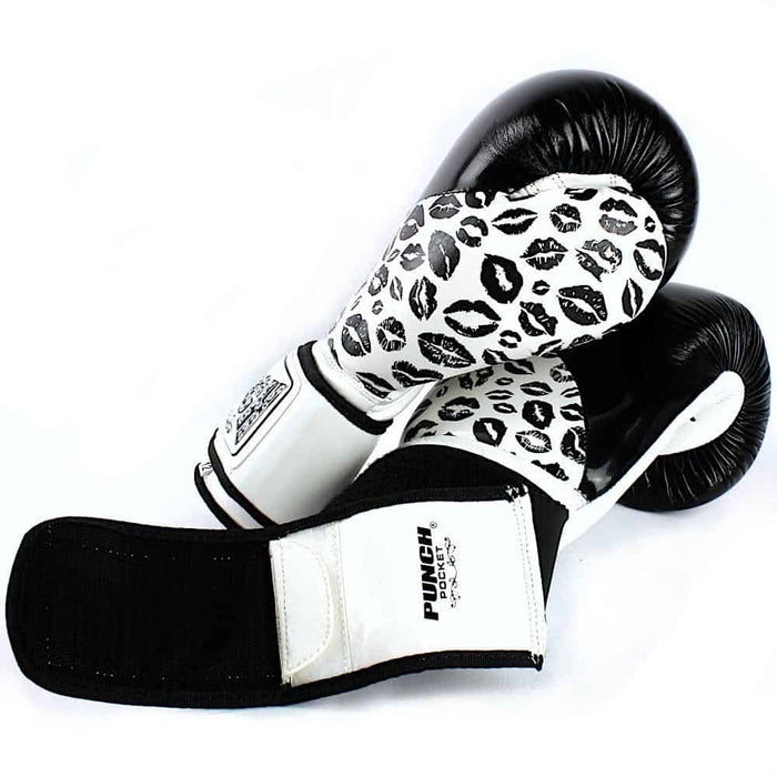 Punch Womens Boxing Gloves Lip Art Black Limited Edition