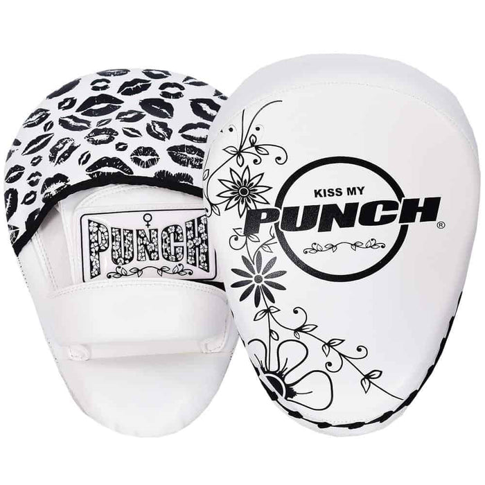 Punch Womens Focus Pads Black Lip Art White Limited Edition - MMA DIRECT
