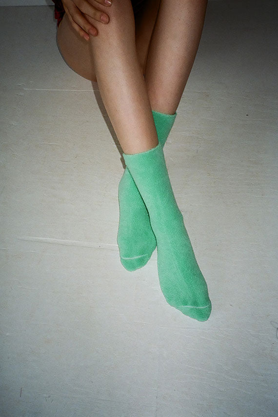 Mint Buckle Overankle Sock