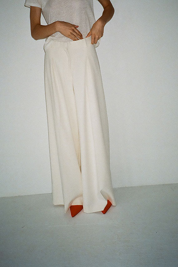 Puffy White Gizella Pant