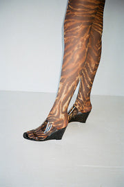 Tiger's Eye Printed Stocking