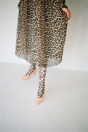 Leopard Midi Pleated Dress
