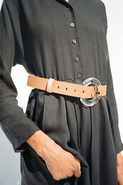 Lucite Brown Sofia Belt