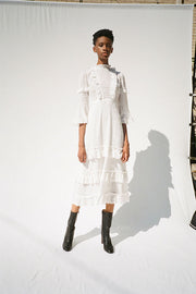Broderie Anglaise Midi Dress